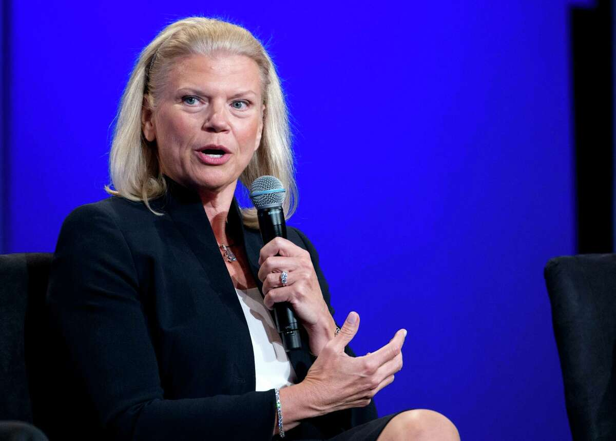 FILE - In this Aug. 5, 2014 file photo, IBM CEO Virginia Rometty speaks during the US Africa Business Forum in Washington. Rometty was the sixth highest paid female CEO in 2014, according to a study carried out by executive compensation data firm Equilar and The Associated Press. (AP Photo/Jacquelyn Martin, File)