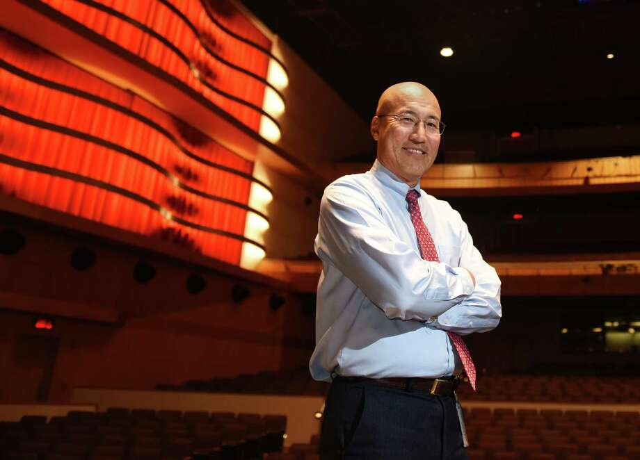 GHS Band Director John Yoon in the Greenwich High School MISA Auditorium. Yoon was reinstated last month after serving a suspension since April of 2015 for allegedly mistreating two students. After nine public appeal hearings, board members ultimately decided that they did not have enough evidence of wrongdoing by Yoon and had too many concerns about administratorsâÄô handling of his case to justify firing him. Photo: Tyler Sizemore / Hearst Connecticut Media / Greenwich Time