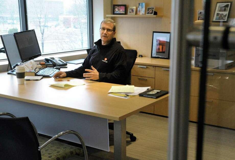 David Schultz, president of Media Logic, on Friday Jan. 29, 2016 in Colonie, N.Y.  (Michael P. Farrell/Times Union) Photo: Michael P. Farrell / 10035181A