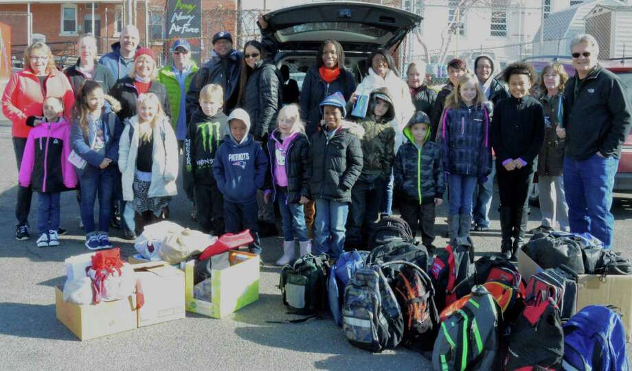 Homes for the Brave, the Bridgeport based organization aiding homeless Veterans, received a heartfelt donation on Saturday January 30th from the Sunday School class of the Rock of Waterbury. Photo: Ken Morse / Connecticut Post contributed