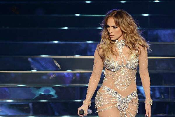 LAS VEGAS, NV - JANUARY 20:  Jennifer Lopez performs during the debut of her residency show JENNIFER LOPEZ: ALL I HAVE at Planet Hollywood Resort & Casino on January 20, 2016 in Las Vegas, Nevada.  (Photo by Denise Truscello/WireImage)