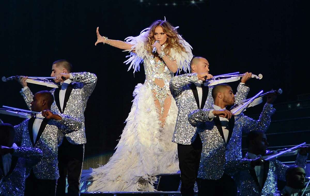 Jennifer Lopez performs during the debut of her residency show
