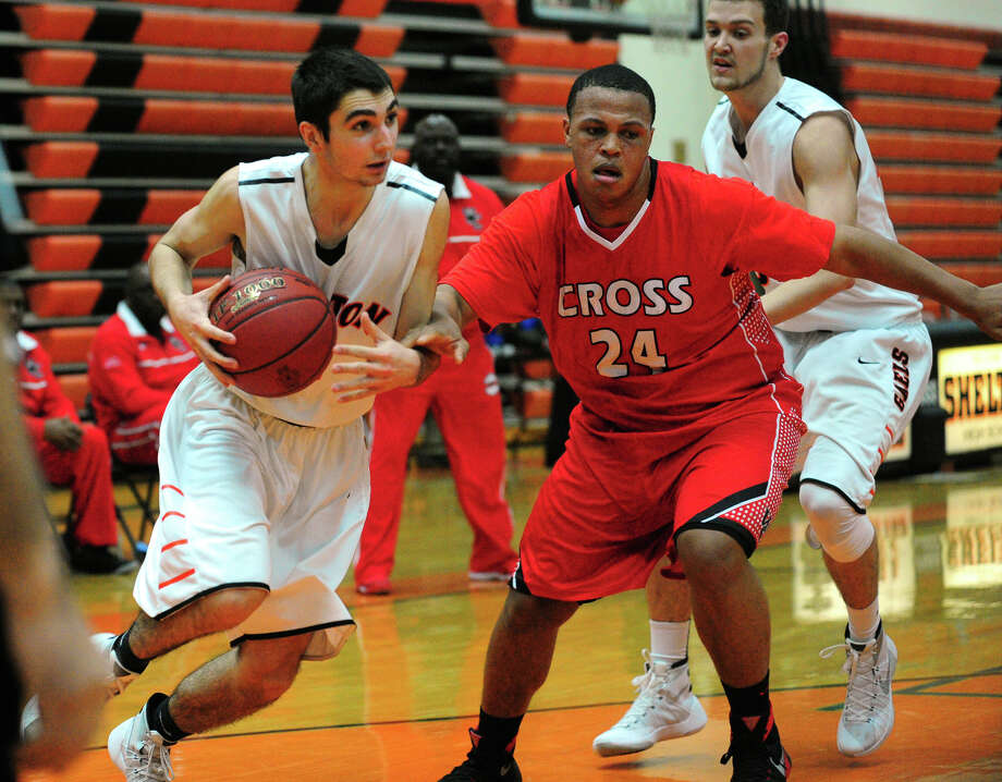 Boys basketball action between Shelton and Wilbur Cross in Shelton, Conn. on Saturday Jan. 30, 2016. Photo: Christian Abraham / Hearst Connecticut Media / Connecticut Post