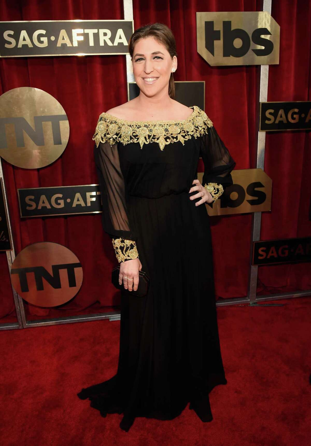 Mayim Bialik attends The 22nd Annual Screen Actors Guild Awards at The Shrine Auditorium on January 30, 2016 in Los Angeles. Mayim's new television show,