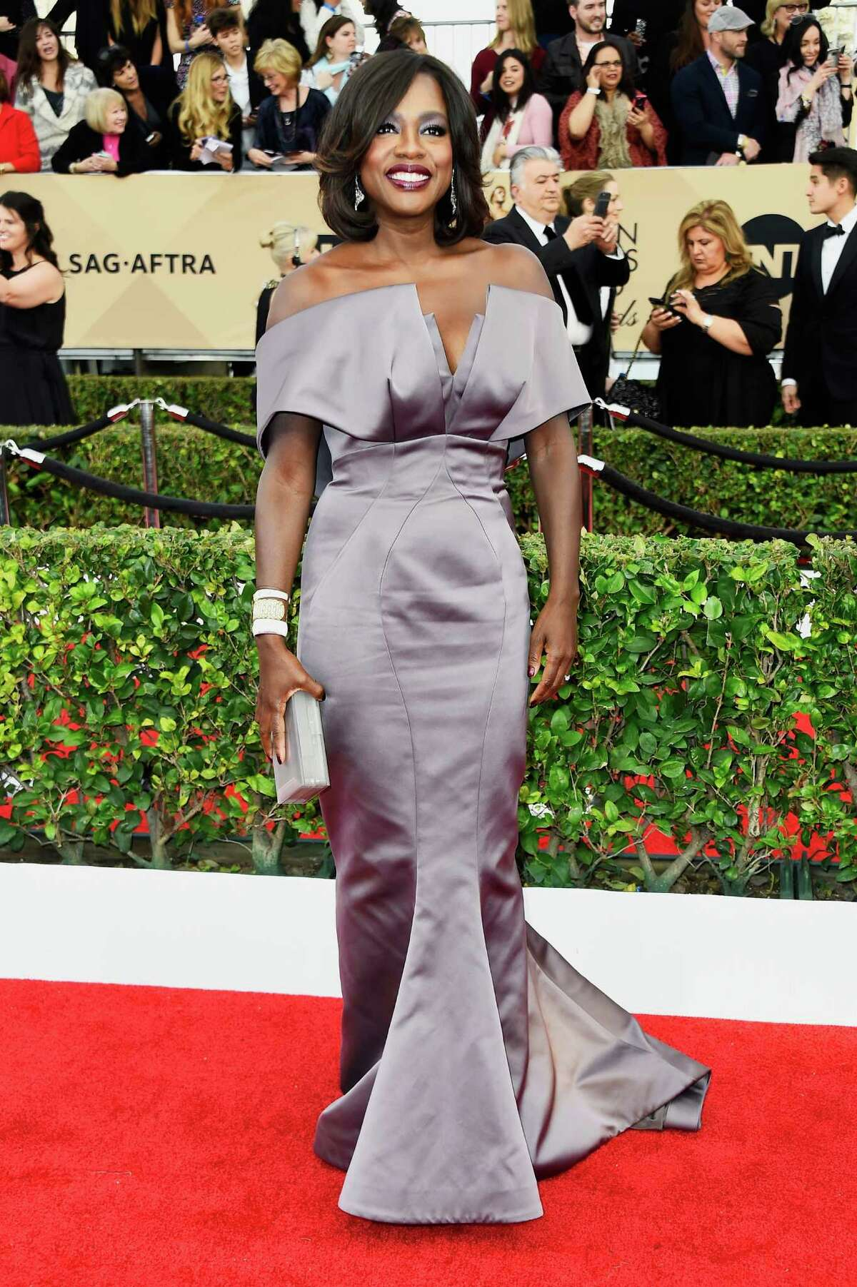 LOS ANGELES, CA - JANUARY 30: Actress Viola Davis attends the 22nd Annual Screen Actors Guild Awards at The Shrine Auditorium on January 30, 2016 in Los Angeles, California.