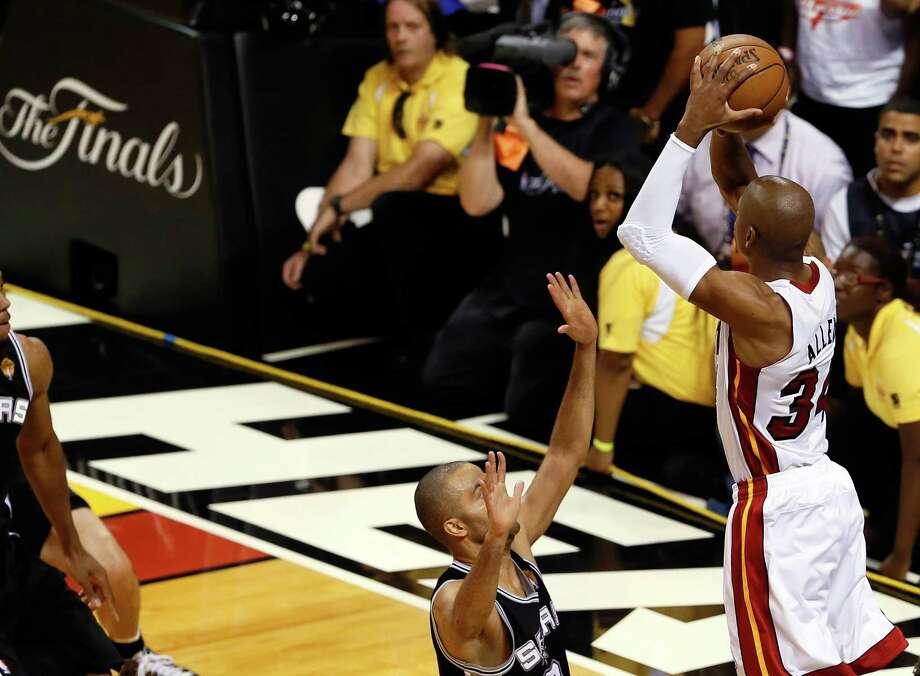 6dfd8e369 Spurs nemesis Ray Allen announces retirement - San Antonio Express-News