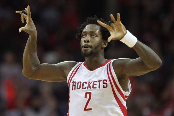 Houston Rockets guard Patrick Beverley (2) celebrates making a three point basket against the Washington Wizards during the fourth quarter at the Toyota Center Saturday, Jan. 30, 2016, in Houston, Texas. Rockets lost 122-123. ( Gary Coronado / Houston Chronicle )