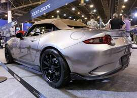 A 2016 Mazda MX-5 Spyder Concept is seen at the 2016 Houston Auto Show Saturday, Jan. 30, 2016, in Houston.