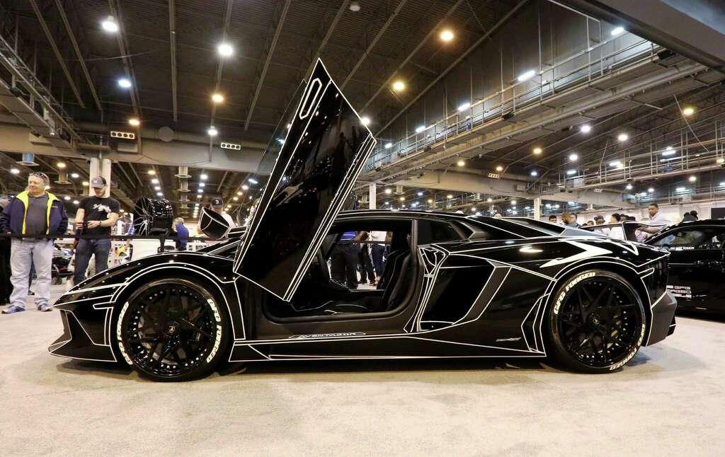 A Customized Lamborghini Aventador SV Is Seen At The 2016 Houston Auto Show  Saturday, Jan