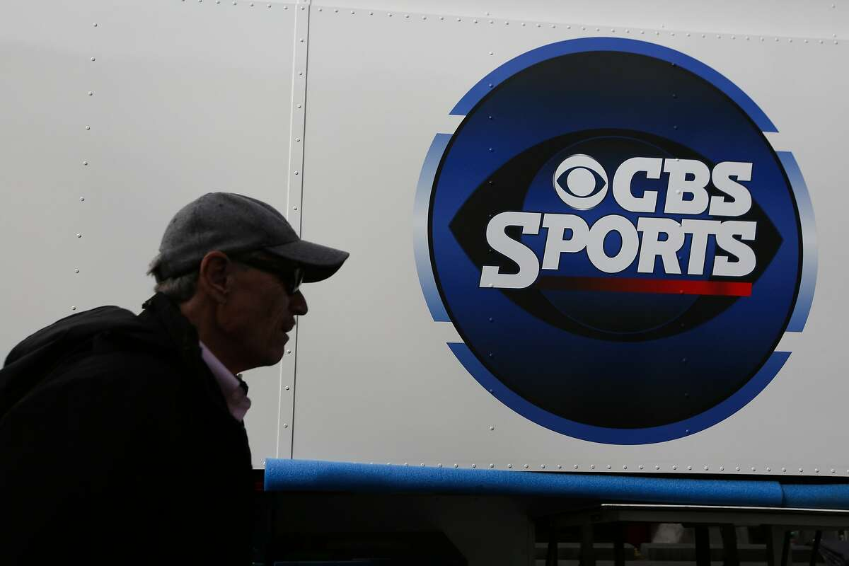 Ken Aagaard of CBS walks through the CBS broadcasting compound at Levi's Stadium in Santa Clara on Saturday, January 30, 2016. About a dozen trailers parked behind Levi's Stadium will be aiding in the broadcast of the Super Bowl.