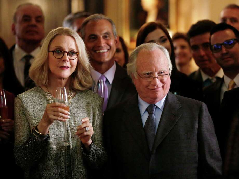 "In this image released by ABC, Blythe Danner, left, and Richard Dreyfuss appear in the primetime miniseries ""Madoff,"" airing Feb. 3-4 at 8 p.m. ET on the ABC Television Network. (Patrick Harbron/ABC via AP) ORG XMIT: NYET621 Photo: Patrick Harbron / American Broadcasting Companies, Inc."