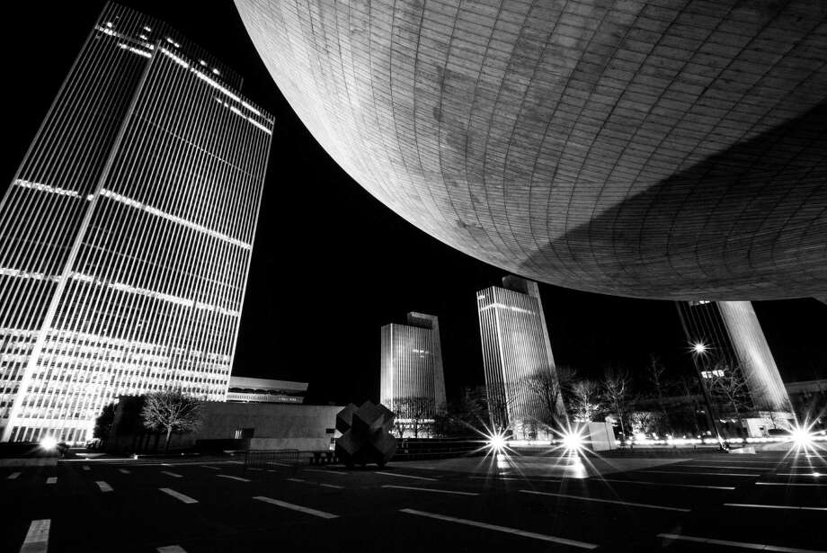 As part of her high school photography class project, Caitlin Steenbock of Albany captured the night scenes of the city including Empire State Plaza and a spot in downtown Albany at State and Broadway where she said it feels alive year-round. (Caitlin Steenbock)
