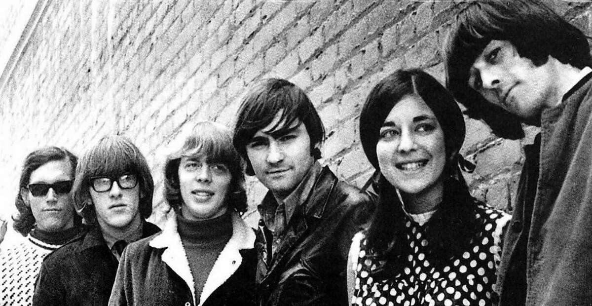 The original lineup of Jefferson Airplane, featuring singer Signe Toly Anderson.