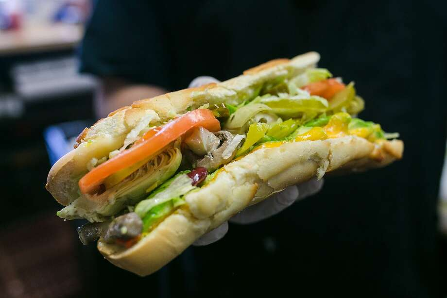 The veggie sandwich at Roxie Food Center in S.F. Photo: Jen Fedrizzi, Special To The Chronicle