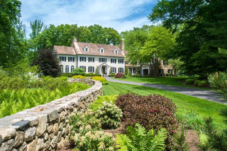 709 West Rd, New Canaan, CT  Price: $5,995,000 Features: Pool house, Stone terraces, Infinity pool, Spa, Featured on the 2015 Secret Garden Tour, Movie theater, Wine cellarView full listing on Zillow Photo: Zillow