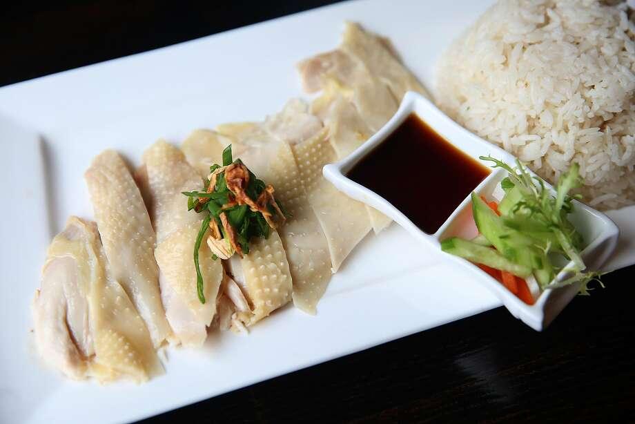 Hai Nam chicken rice at Le Soleil in S.F., a.k.a.Hainanese chicken rice. Photo: Liz Hafalia, The Chronicle