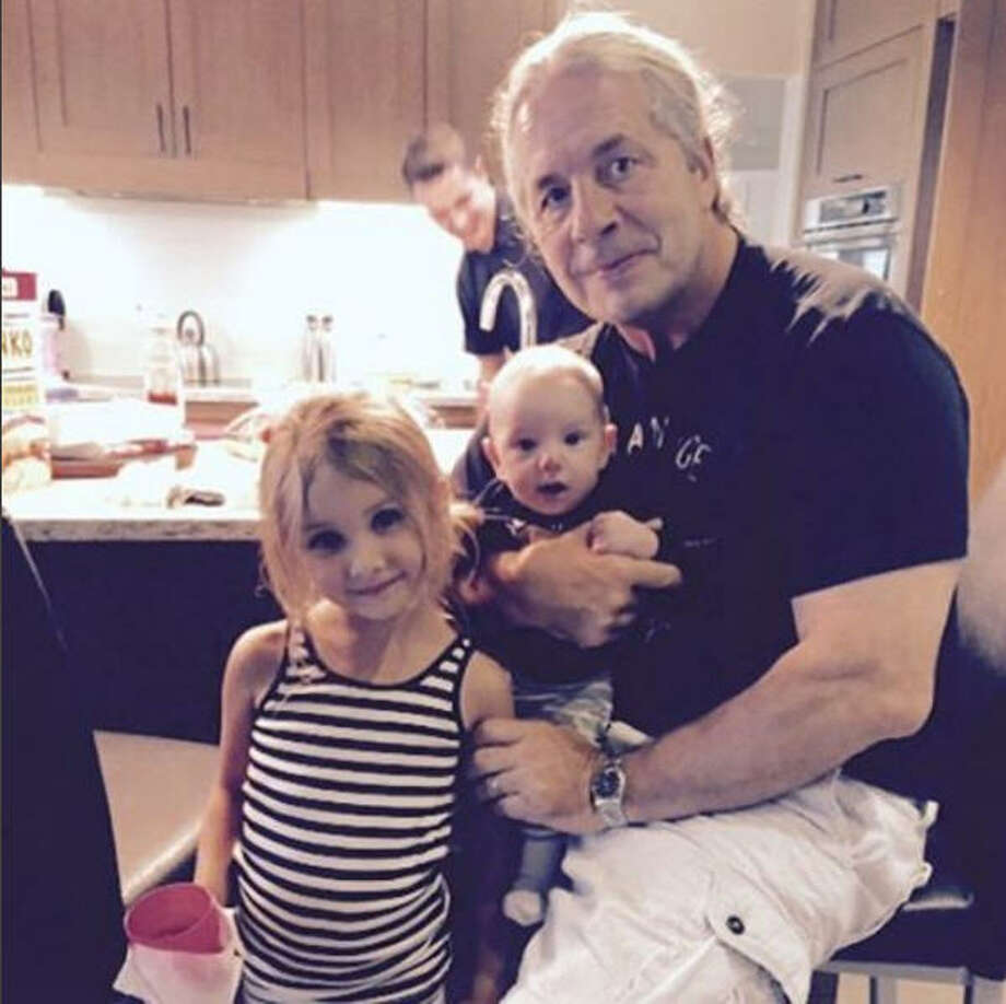 Bret Hart posted this photo with him and his grandchildren to social media when he announced the news of his prostate cancer. Photo: Instagram
