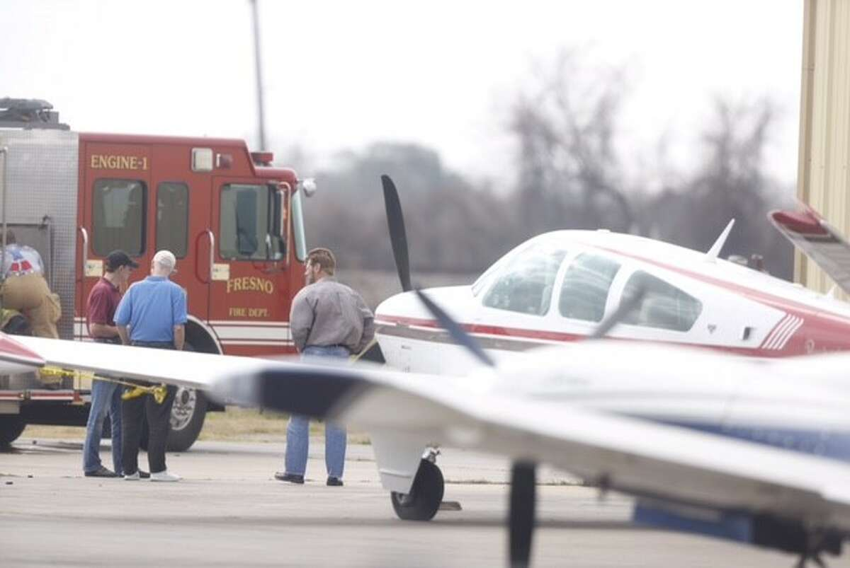 Flames engulfed a small plane Monday, Feb. 1, 2016 at a private air strip in Arcola. The incident happened about 10:40 a.m. the Houston Southwest airport, according to Lynn Lunsford, spokesman for Federal Aviation Administration.