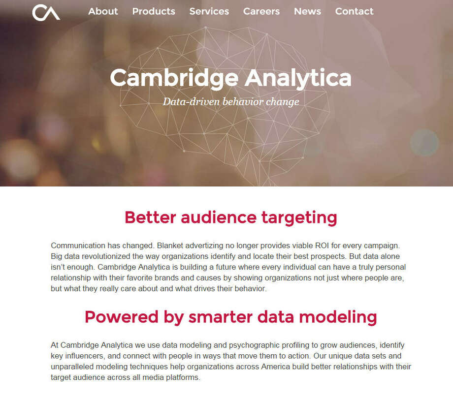 Cambridge AnalyticaPaid by Cruz campaign October 2015 - January 2016: about $3,050,000Check out the company website.  Photo: Webpage