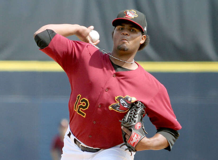 Francis Martes pitches for Quad Cities in 2015. Photo: Quad Cities Times