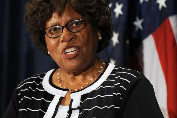 """Former Surgeon General Joycelyn Elders speaks remarks during a press conference titled a """"National Call to action on Cancer Prevention and Survivorship"""" on July 23, 2008 at the National Press Club in Washington, DC."""