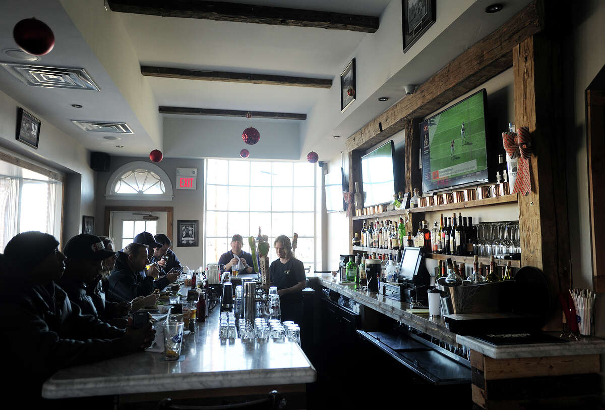 The bar area at The Lazy Dog Tavern at 2505 Main Street in Stratford, Conn. on Tuesday, January 5, 2015.