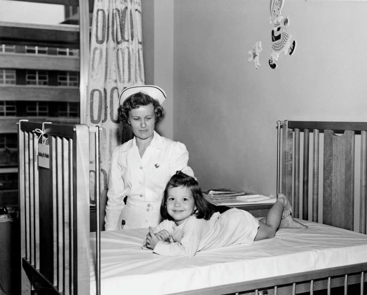 Feb. 1, 1954: Texas Children's first patient, 3-year-old Lamaina Leigh Van Wagner, admitted.