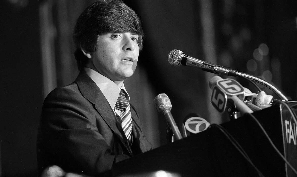 April 6, 1977: New San Francisco 49ers owner Eddie DeBartolo Jr. faces the S.F. media for the first time.