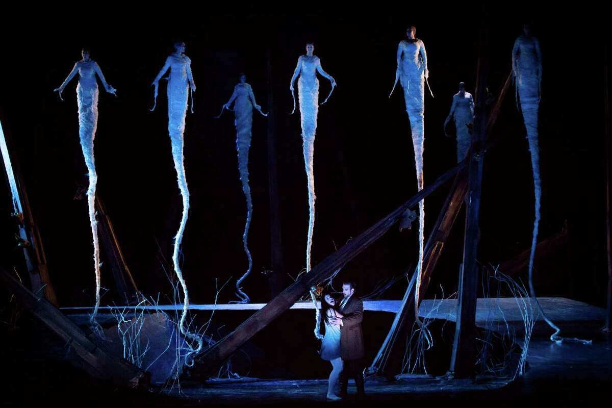 """Ana Maria Martinez stars in the title role and Brian Jagde is the Prince in """"Rusalka"""" at Houston Grand Opera."""