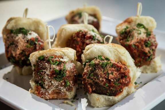 Meatballs are a good Super Bowl snack. So are sliders. Why not combine them? Brooklyn Meatball Co. has the right idea with this assortment.