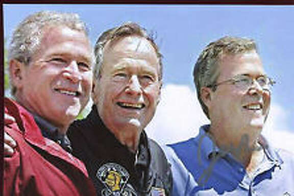 The Bush boys, ready for Mount Rushmore