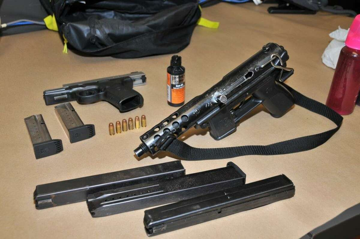 Three South Carolina men were arrested on Interstate 95 in Stamford in early February after police found assault weapons and narcotics in the crashed vehicle's trunk. As police followed the men traveling northbound, the driver lost control and