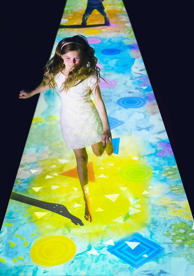 """Create! Hopscotch for Geniuses,"" a work by the collaborative teamLab. Photo: Courtesy Pace"