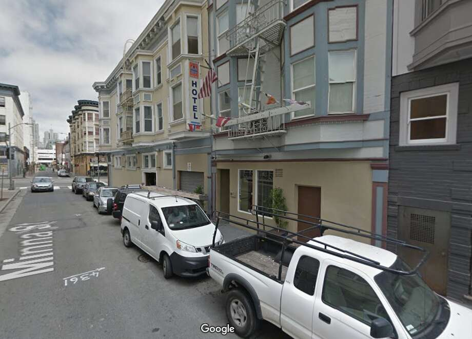 "Pontiac Hotel509 Minna Street, San Francisco$209 a nightPertinent TripAdvisor review: ""I don't mind sharing bathrooms-they're reasonably clean-but I refuse to share bed sheets! Urine, hair and crumbs greeted me upon pulling back the duvet."" Photo: Google Maps"
