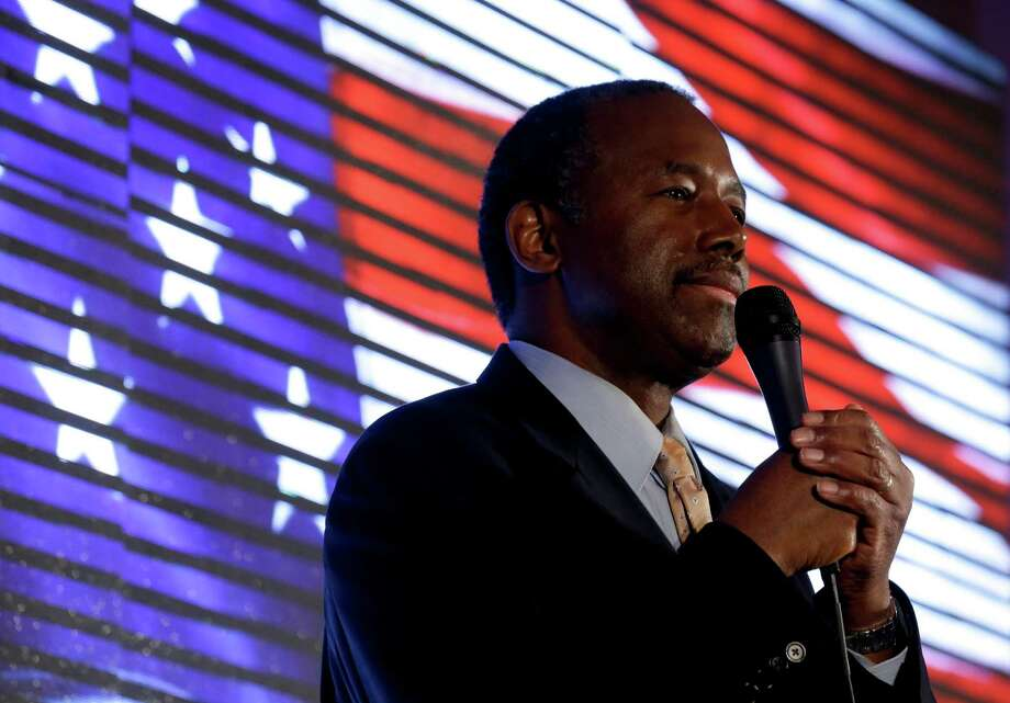 In this file photo, Republican presidential candidate, Ben Carson, speaks during a campaign event at the Noah's Event Venue, Saturday, Jan. 30, 2016, in West Des Moines, Iowa. Photo: Chris Carlson, AP / AP