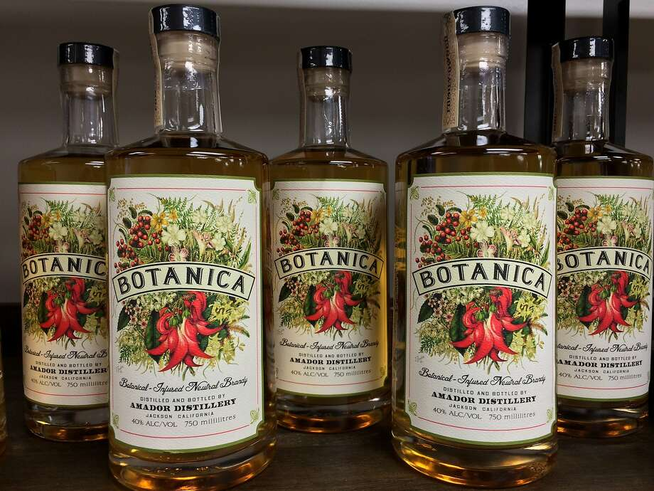 Amador Distillery's Botanica is a botanical-infused neutral brandy that's similar to gin. Photo: Andrea Strickland