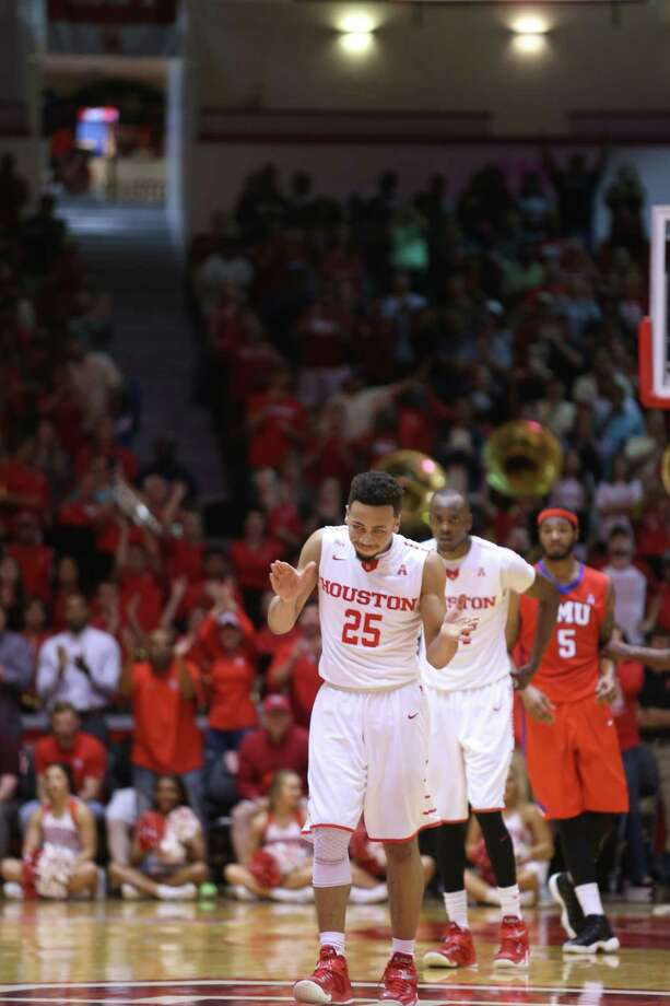 Photos of first half game action between University of Houston and Southern Methodist University at Hofheinz Pavilion on  Monday, Feb. 1, 2016 in Houston. UH won the game 71-68. Photo: Elizabeth Conley, Houston Chronicle / © 2016 Houston Chronicle