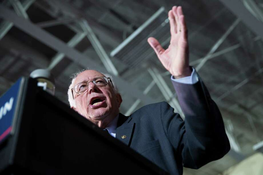 Democratic presidential candidate Sen. Bernie Sanders, I-Vt., speaks during a campaign rally at Grand View University, on Sunday, Jan. 31, 2016, in Des Moines, Iowa. (AP Photo/Evan Vucci) ORG XMIT: IAEV140 Photo: Evan Vucci / AP