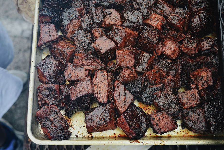 Burnt ends at the Houston Barbecue Festival. Photo: Houston Barbecue Festival