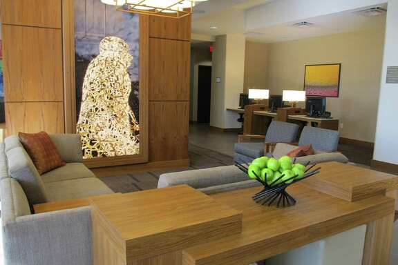 The lobby of the new Hyatt Place Houston Galleria. Atlanta-based Songy Highroads has opened the 157-room hotel at 5252 W. Alabama.