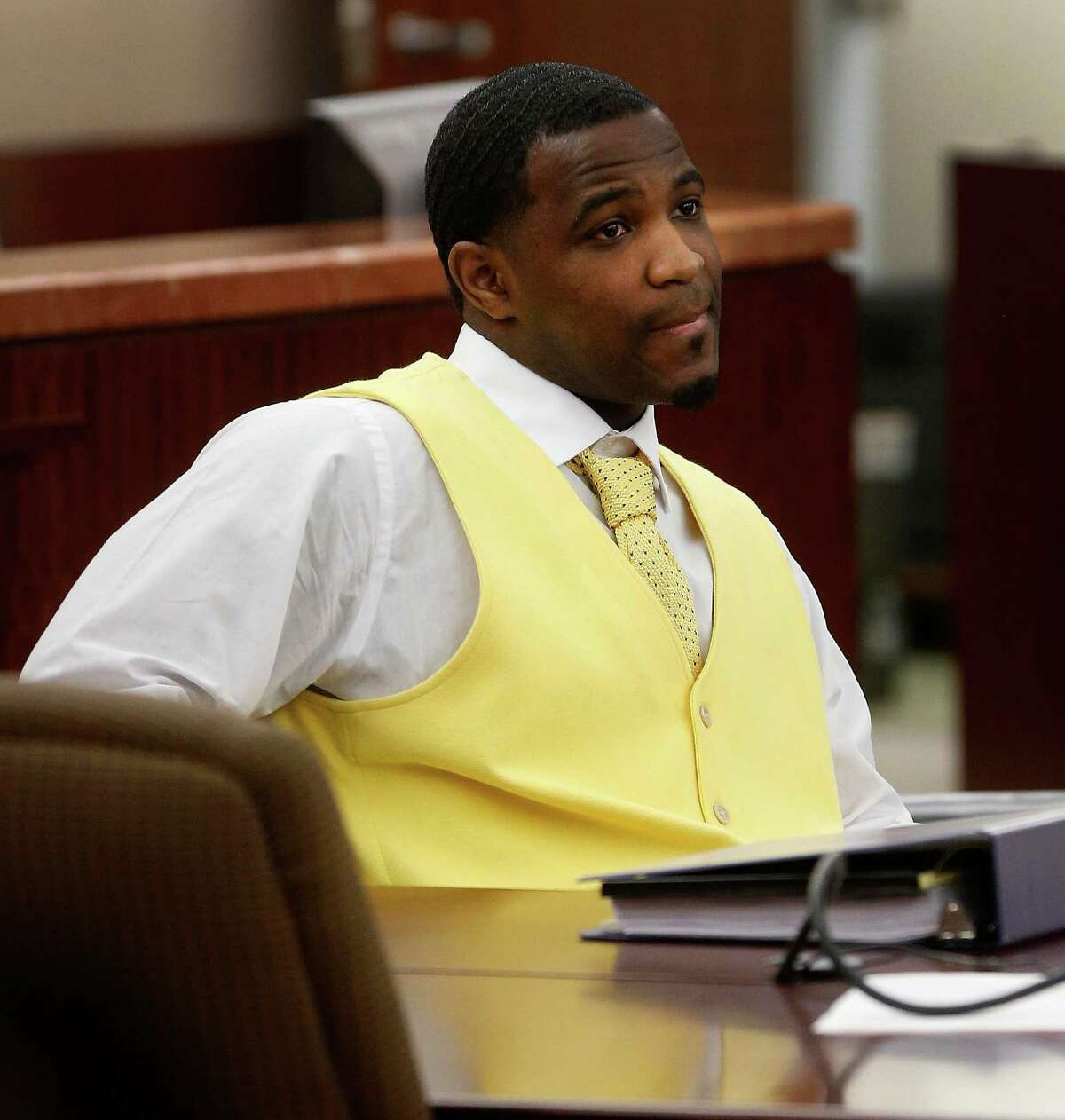 Neal Bland in court for the start of his trial, Tuesday, Feb. 2, 2016, for the murder of Joshua Woods who was killed for the AIR Jordan shoes he just purchased on the release day.