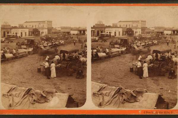 Chili-con-carne tables, Frank Hardesty: Stereoscopic views, 1876-1879