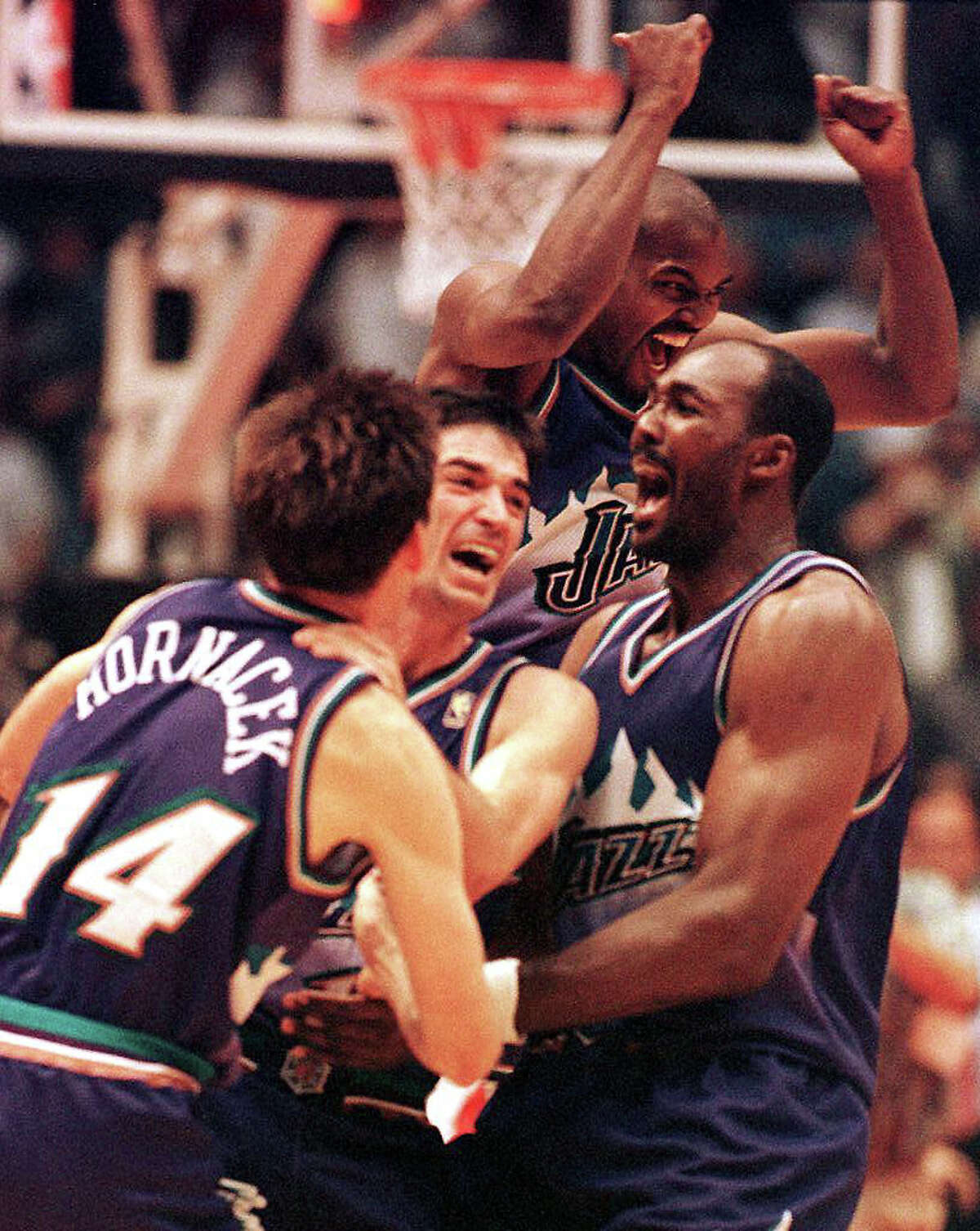 8. Utah Jazz They hail from sleepy Salt Lake City, but have done plenty to get under Rockets' fans skin over the years. The Rockets knocked out the Jazz en route to winning NBA championships in 1994 and 1995, with a memorable Game 5 victory in Salt Lake City during their repeat run. Utah got payback in 1997 on the sneaky dirty John Stockton's series-winning 3-pointer in Game 6 of the Western Conference Final at The Summit (with a big assist thanks to Karl Malone's moving screen on Charles Barkley). The Jazz also bounced the Rockets from the 1998, 2007 and 2008 playoffs. Lastly, how can anyone take the name