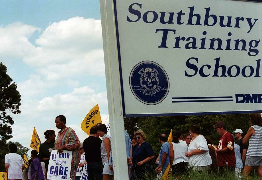 Local 1199 New England Health Care Workers demonstrated at the Southbury Training School during the summer of 1999. Photo: File Photo\Doug Healey / File Photo\Douglas Healey / The News-Times File Photo