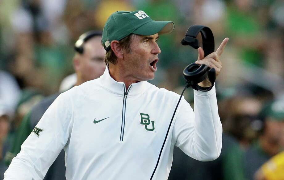 Baylor coach Art Briles yells from the sideline during the first half of an NCAA college football game against Lamar in Waco, Texas. Photo: LM Otero /Associated Press / AP