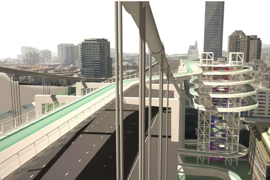 The most elaborate design by Arup for an elevated bicycle and pedestrian pathway and touchdown in San Francisco.