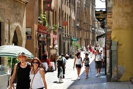 In Lyon's Old Town, cafés and bistros await around every corner.  RS07Summer_320.JPG