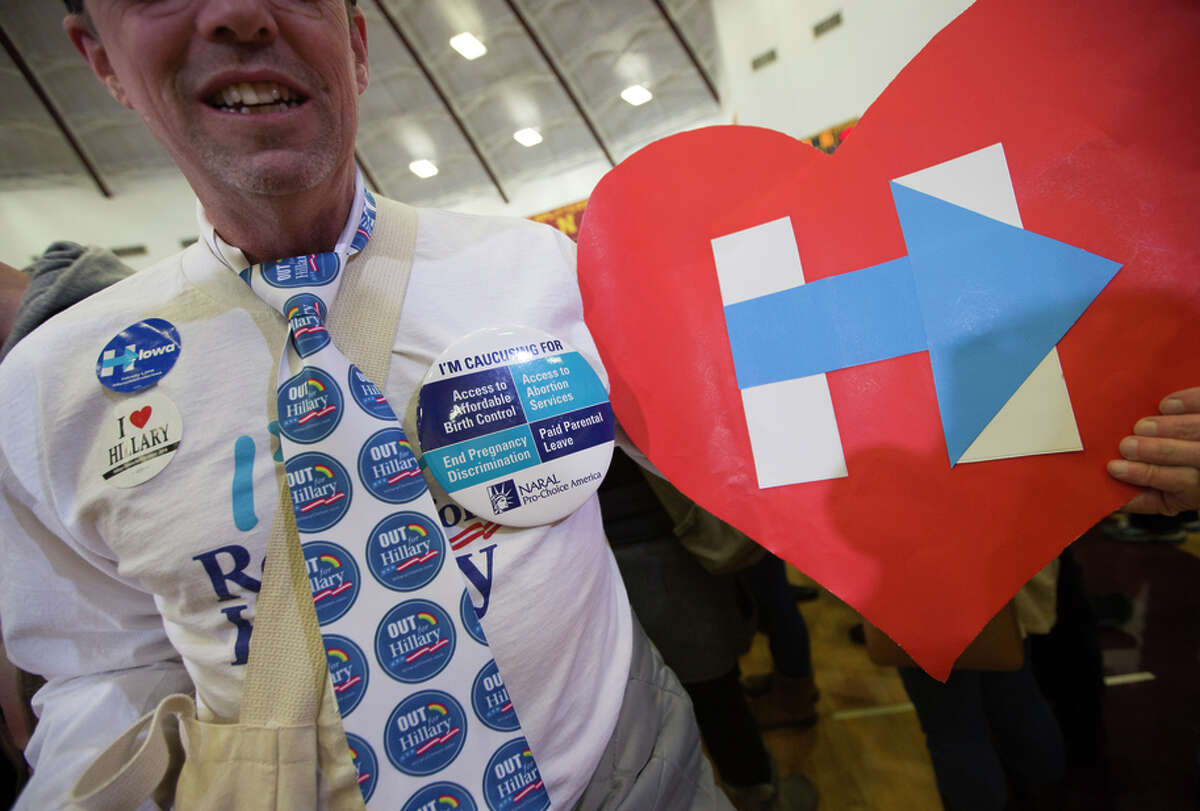 Mark Murphy of San Francisco was among Clinton's many Iowa ground troops - but they didn't secure her a big win.