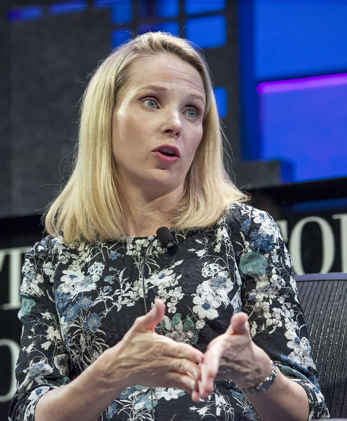 Marissa Mayer, president and chief executive officer of Yahoo Inc., at the 2015 Fortune Global Forum in San Francisco in November. Mayer, who has overseen falling sales in 7 of the past 10 quarters, promised to detail a plan to cut costs and boost growth when quarterly earnings are released Tuesday. Must credit: Bloomberg photo by David Paul Morris.