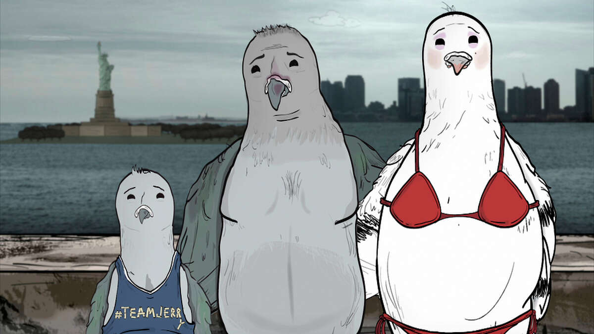 """A pigeon wrestles with gender identity in """"Animals."""""""